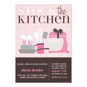 stock the kitchen invitation