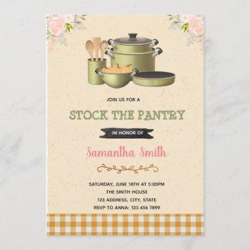 stock the pantry bridal shower invitation