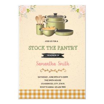 stock the pantry bridal shower invitation
