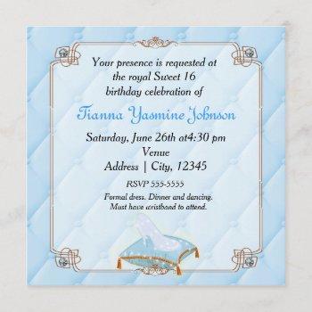 storybook fairytale princess elegant wedding party invitation