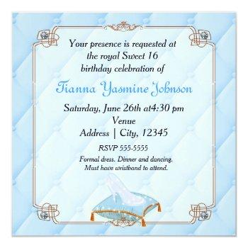 storybook fairytale princess elegant wedding party invitation
