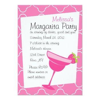 strawberry margarita party invitation