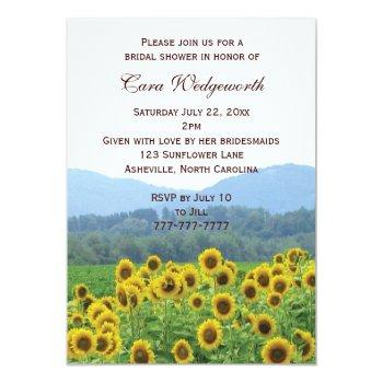 sunflowers photo bridal shower invitation