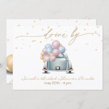 surprise drive through bridal shower parade invitation