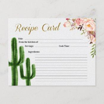 taco bout love bridal shower recipe card