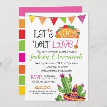 taco bout love - couples coed bridal invitation