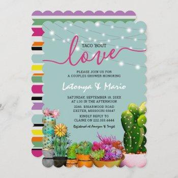 taco 'bout love fiesta couples shower invitation