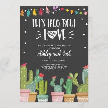 taco bout love fiesta couples shower invite cactus