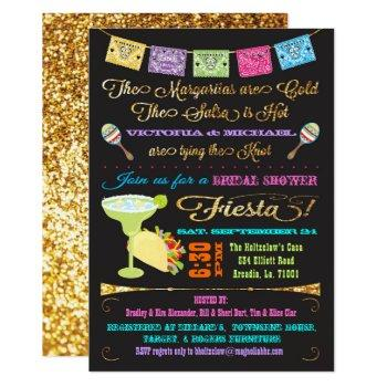 tacos and tequila couples bridal shower fiesta invitation