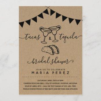 tacos & tequila couples' bridal shower invitation