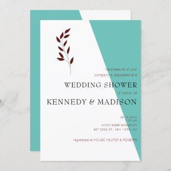 teal geometric non-binary minimalist shower invitation
