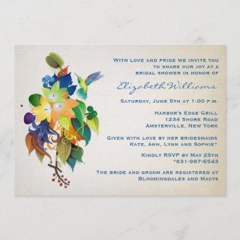 the hummingbird bridal shower invitation