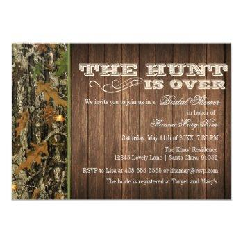 the hunt is over bridal shower invitation