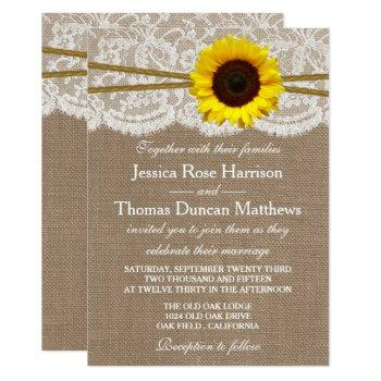 the rustic sunflower wedding collection invitation