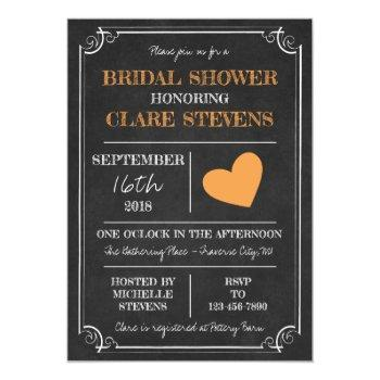 til death halloween skeleton orange bridal shower invitation
