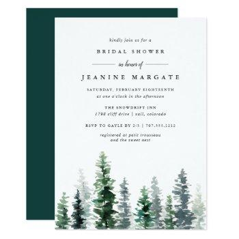 timber grove | rustic bridal shower invitation