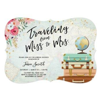 travel themed bridal shower miss to mrs ct invitation