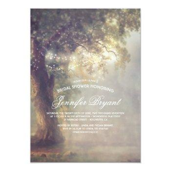 tree string lights rustic country bridal shower invitation