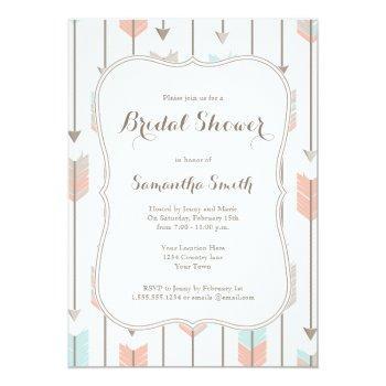 tribal arrows bridal shower invitation