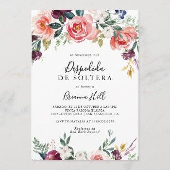 tropical colorful summer spanish bridal shower invitation