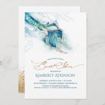 under the sea mermaid tail bridal shower invitation