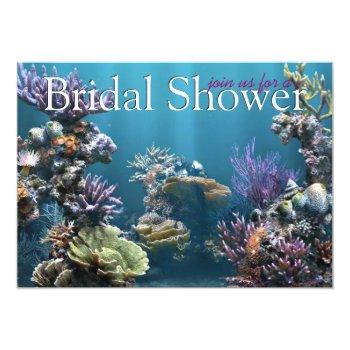 underwater bridal shower invitations
