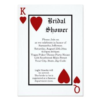 vegas playing card king/queen bridal shower