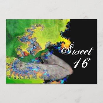 vibrations of matter ,sweet 16 birthday party invitation