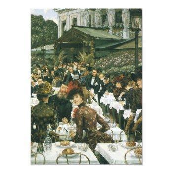 victorian art by tissot, luncheon bridal shower invitation