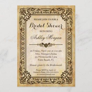 victorian bridal shower - vintage antique frame invitation