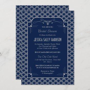 vintage 1920's art deco gatsby bridal shower invitation