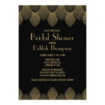 vintage 20's art deco bridal shower invitation