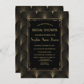 vintage art deco great gatsby bridal shower invite