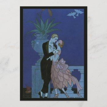 vintage art deco newlywed bridal shower invitation