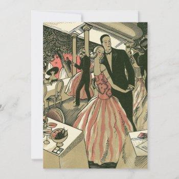 vintage art deco wedding bridal shower invitation