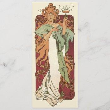 vintage art nouveau bridal shower party invitation