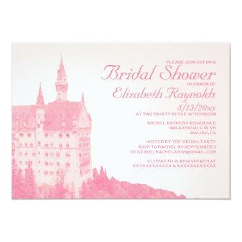 vintage fairytale castle bridal shower invitations