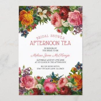 vintage floral | bridal afternoon tea invitation