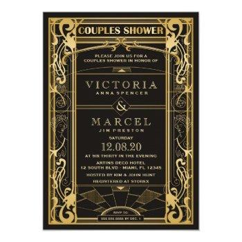 vintage great gatsby couples shower invitation
