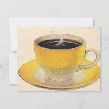 vintage illustration coffee in a yellow cup