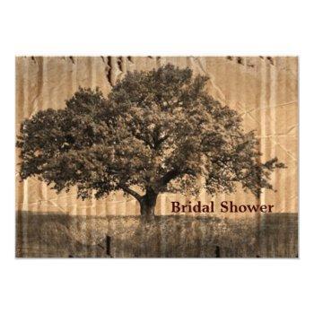 vintage oak tree bridal shower invitation