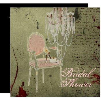 vintage paris chic  bridal shower invitation