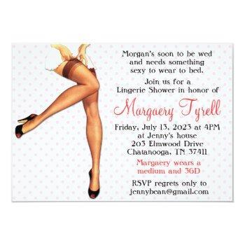 vintage pin up lingerie shower bridal shower card