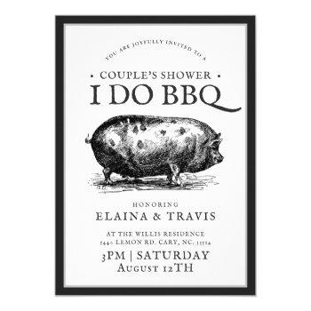 vintage style | i do bbq  | couple's shower invitation