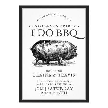 vintage style | i do bbq  | engagement party invitation