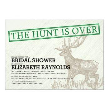 vintage the hunt is over bridal shower invitations