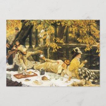 vintage victorian art afternoon tea bridal shower invitation