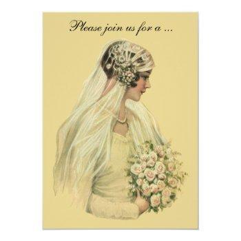 vintage victorian wedding bridal shower party invitation