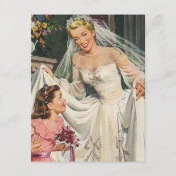 vintage wedding, retro bride bridal shower party invitation