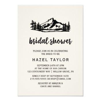 vintage wilderness bridal shower invitation